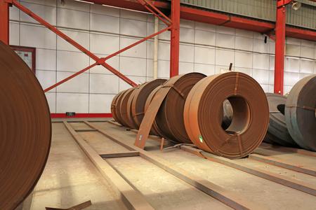 Strip steel in the workshop