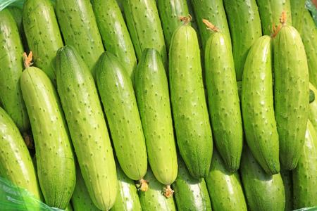 cucumbers stacked together