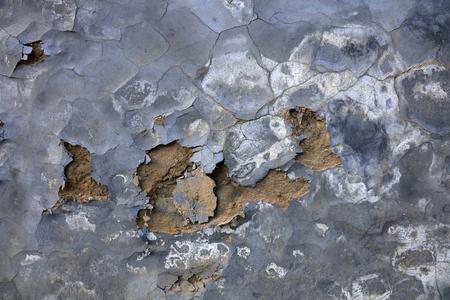broken cement wall