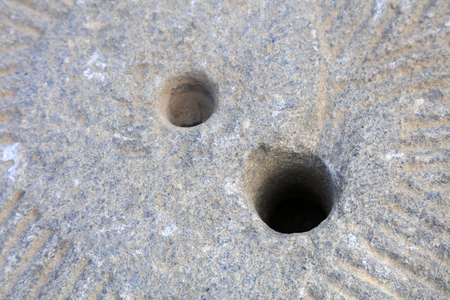 hole on the stone plate
