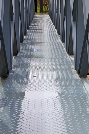Steel bridge, closeup of photo