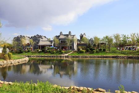 Chinese traditional landscape architecture scenery 版權商用圖片