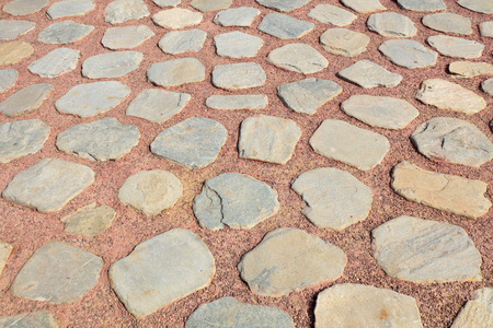 Rock paved ground