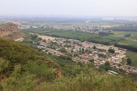 Village building landscape vertical view, China  版權商用圖片