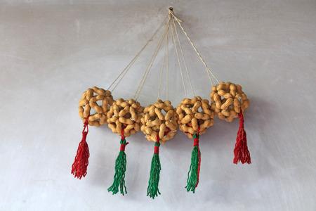 Peanut handicraft on the wall