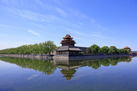 watchtower scenery in the Imperial Palace, Beijing, China