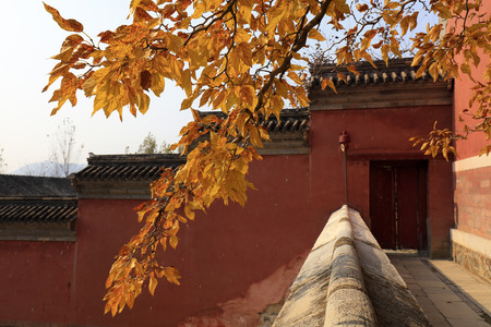 temple scenery in autumn, China Stock Photo