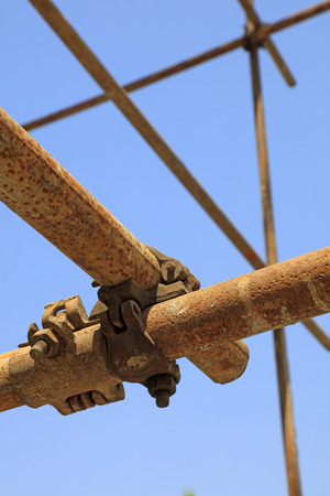 Steel pipe scaffold 写真素材
