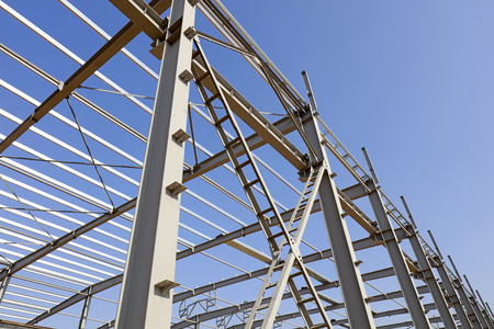 Steel beam of industrial factory building