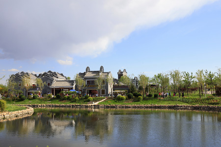Chinese traditional landscape architecture scenery 新聞圖片