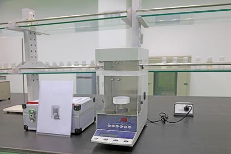 Instruments and equipment in the laboratory, closeup of photo Foto de archivo - 101490126