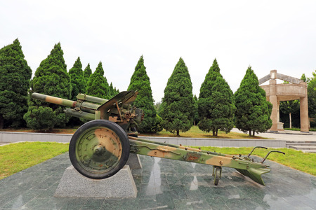 Heavy weapons display in a park Editorial