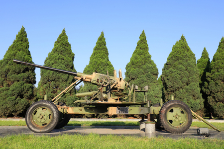 Heavy weapons in the memorial park