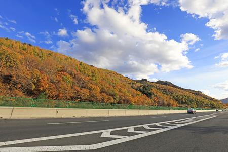 freeway under the blue sky Stock Photo