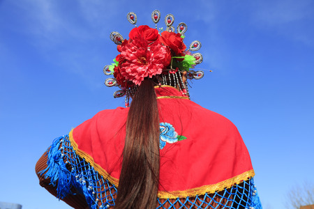 Chinese folk dance Yangko dress
