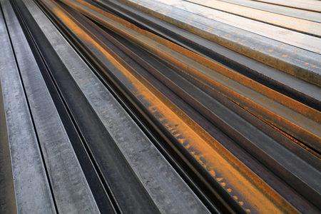 Steel products stacked together