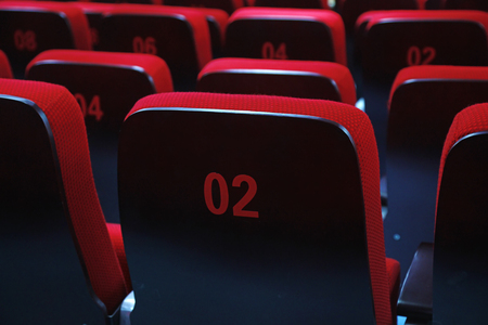 stacked chairs in the theatre, China 免版税图像