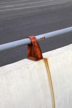 Steel pipe bridge railing