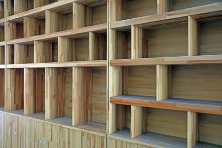 Wooden shelf features