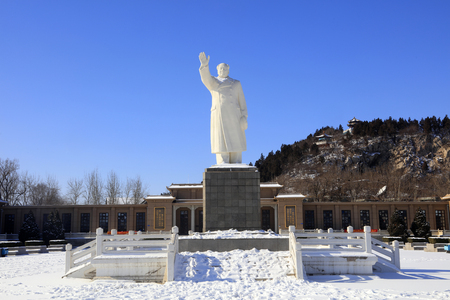 A Statue of Chinas former Chairman Mao Zedong in the city of Tangshan, China