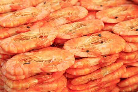 Dried shrimp prawn in traditional Chinese cuisine 스톡 콘텐츠