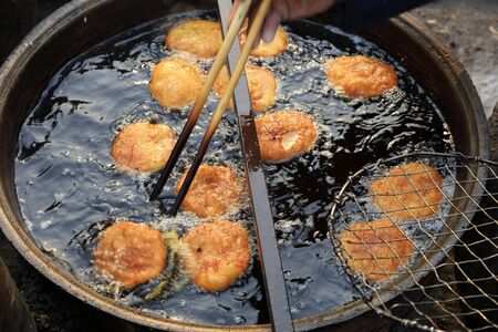 Chinese traditional snacks fried cake 스톡 콘텐츠
