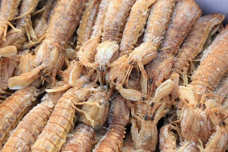 Frozen skins and shrimps