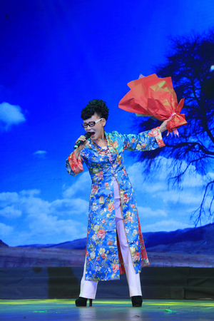 Luannan County - January 23, 2017: Chinese singing and dancing performance, Luannan, Hebei, China
