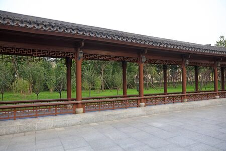 Chinese classical architecture is in a park Stok Fotoğraf