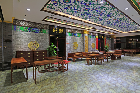 Tangshan City - 2. November 2016: Tangshan Antiquitätenladen, Tangshan City, Hebei, China