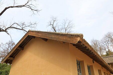 adobe house roof 写真素材