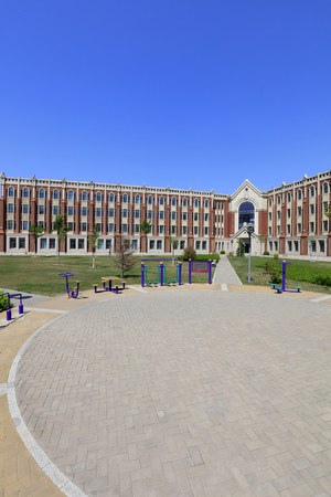 Tangshan - April 22, 2017: Campus Scenery of Tangshan Polytechnic College, Tangshan City, Hebei Province, China