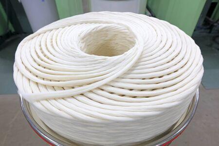 Cotton yarn texture 스톡 콘텐츠