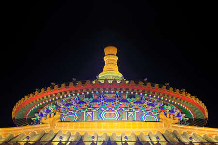 Chinese classical architecture in the dark