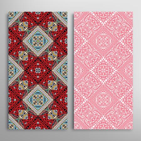 flores chinas: Vector sin costura patrones verticales fijados con la mano dibujadas repetir la textura para la impresión de la tela, invitaciones o tarjetas. Vectores