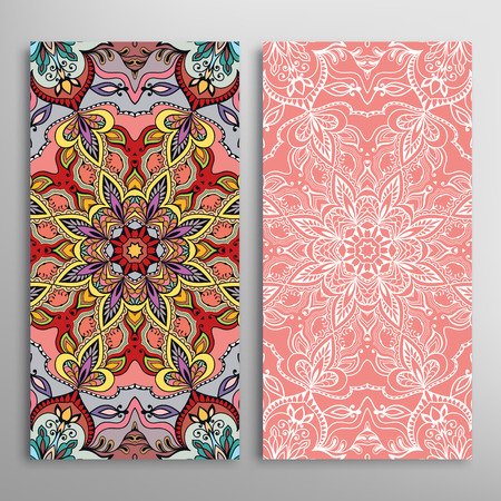 arabic: Vector seamless vertical patterns set with hand drawn repeating texture for Fabric print, Invitations or Cards.