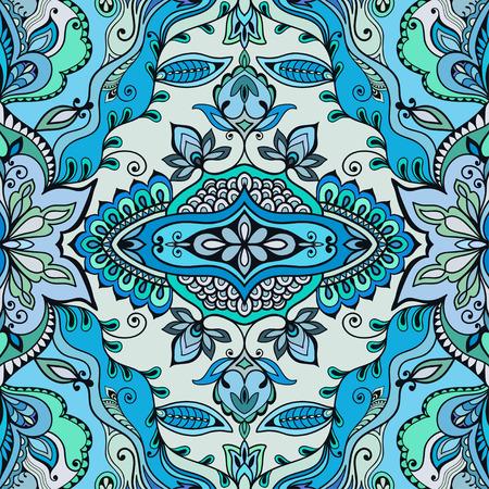 lace: Modelo incons�til del vector, ornamento geom�trico floral, tribal �tnica motivo indio �rabe. Dibujado a mano resumen de antecedentes incompletos. Repitiendo textura de la tela