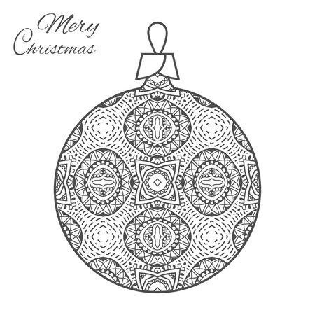 Pattern For Coloring Book Christmas Hand Drawn Decorative Elements