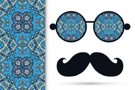 Retro hipster oogglazen.