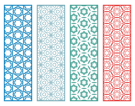 Decorative geometric line borders with repeating texture