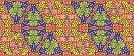 Colorful seamless triangle patchwork pattern. Stock Illustratie