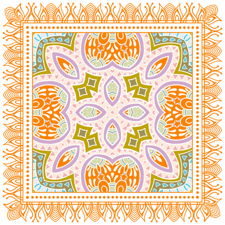 Decorative colorful ornament on a white background