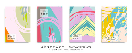 Abstract universal grunge art texture, web header template. Collage page, design for card, invitation, brochure brush strokes style, banner idea, book cover, booklet print, flyer sheet a4
