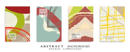 Abstract universal grunge art texture, brush strokes , sheet a4 set