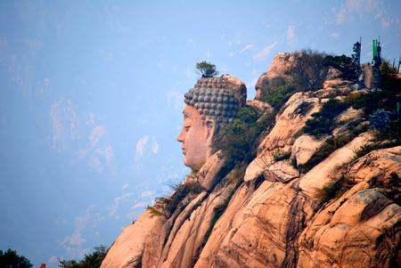 cabeza de buda: Cabeza de Buda de monta�a Wulian
