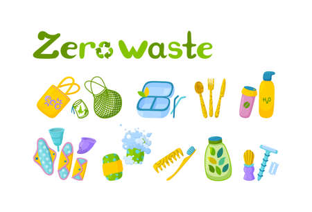 Symbol of recycling and reusable items. Stock Illustratie