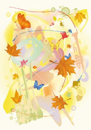 autumn jazz  Vector