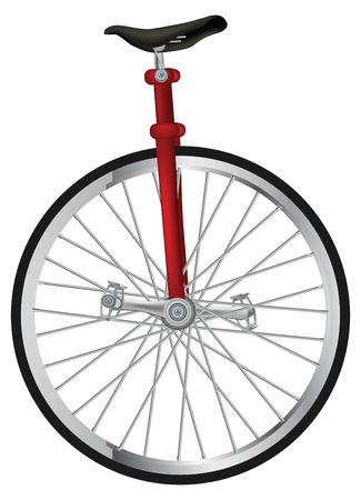 circus bike: antiguo circo Unicycling