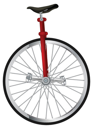 spokes: old circus unicycling Illustration