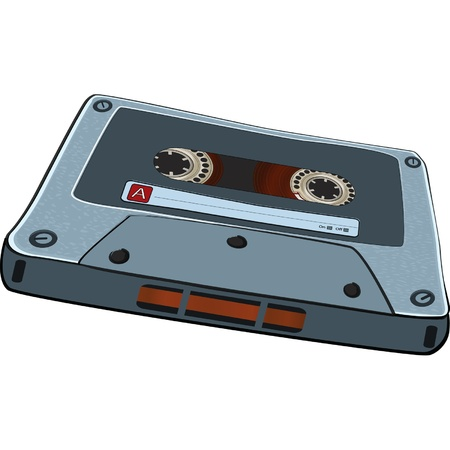 Audio Cassette Tape Stock Vector - 9849775